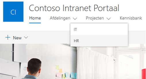 Blog Jasper SharePoint Hub Sites afbeelding 1