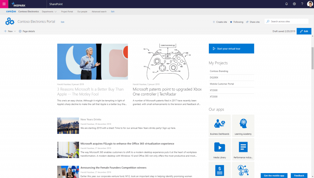 Japer Sharepoint newshub