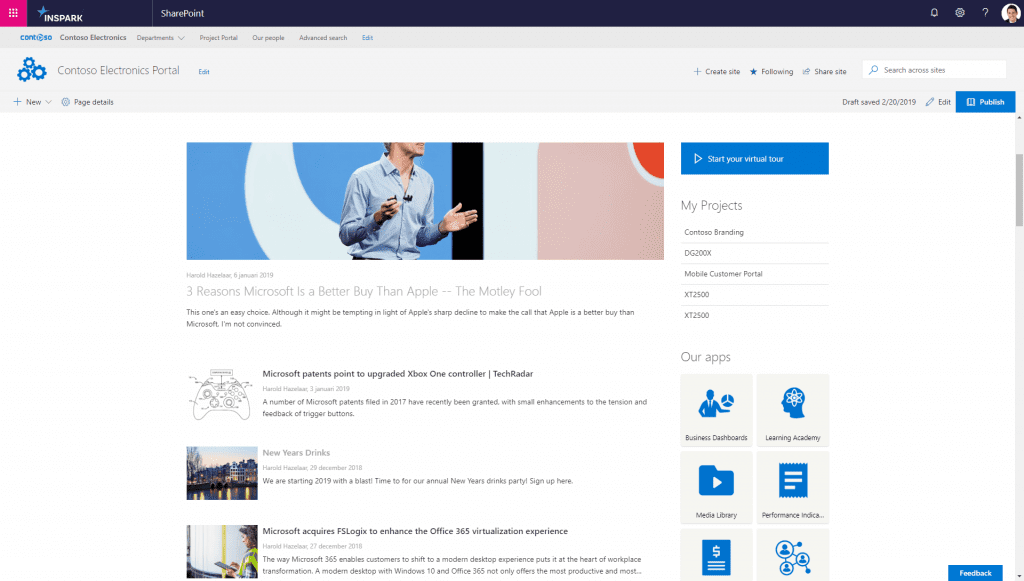 Japer Sharepoint newshub2