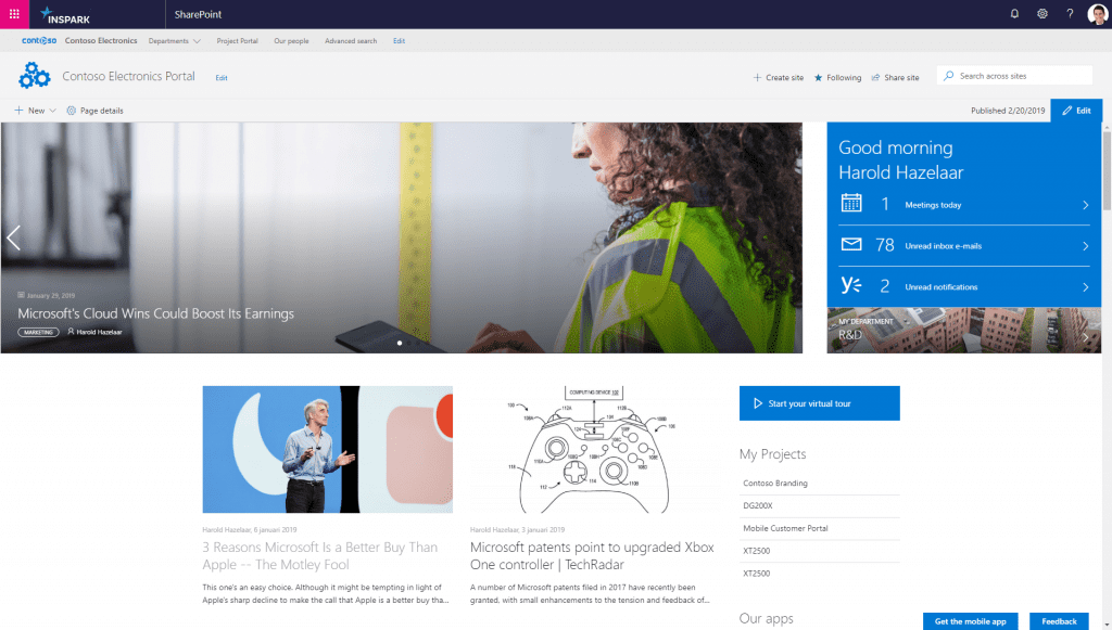 Jasper Sharepoint highlights