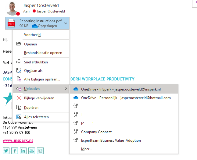 Blog Jasper verslepen outlook sharepoint 1