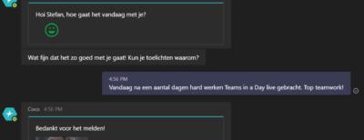 Chatbot Vico meet sentiment onder medewerkers