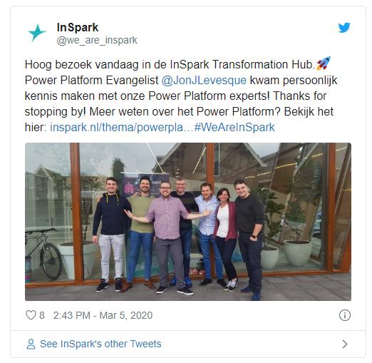 tweet inspark transformation hub